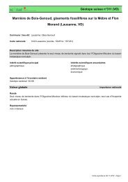 Marnière de Bois-Genoud, gisements fossilifères sur la ... - admin.ch