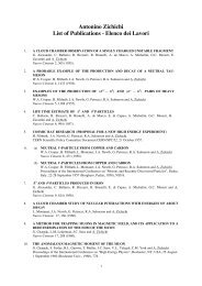 Antonino Zichichi List of Publications - Ettore Majorana - Infn
