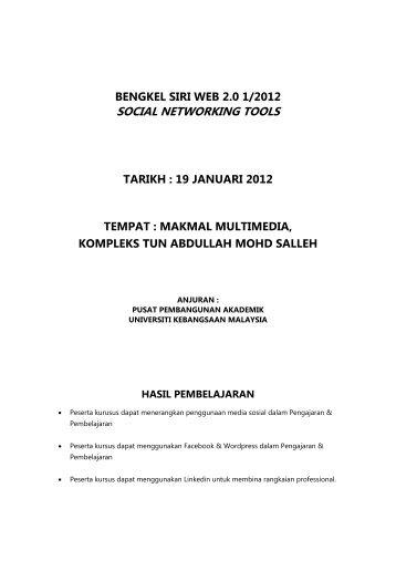 social networking tools - Sistem e-Warga - Universiti Kebangsaan ...