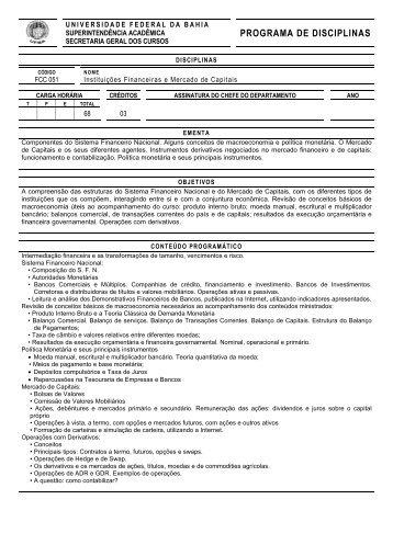 FCC 051 - Instituições Financeiras e Mercado de Capitais