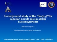 Underground study of the 22Ne(p,)23Na reaction and its role ... - Infn