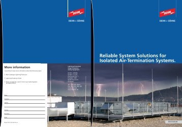 Isolated Air-Termination Systems - Dehn + Söhne Blitzschutzsysteme