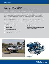 Model 250‑B17F - Rolls-Royce