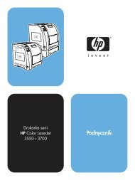 HP Color LaserJet 3550 and 3700 series printer ... - Centrum Druku
