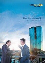 Edisun Power Europe AG Jahresbericht 2010