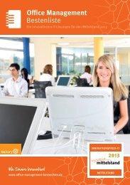 Bestenliste Office Management - IT-Bestenliste