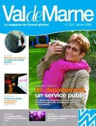 ValdeMarne n° 254 / Janvier 2009 - Conseil général du Val-de-Marne