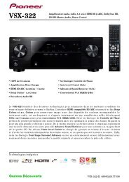 Télécharger Fiche Technique du PIONEER VSX-322 Noir - Cobrason