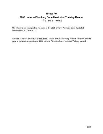 2006 uniform plumbing code illustrated training manual: iapmo.