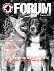 FORUM - 2005 - Canadian Association of Professional Pet Dog ...