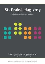 St. Praksisdag 2013 - Sundhed.dk