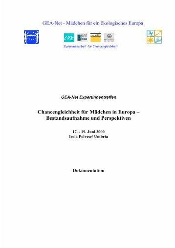 Zur Dokumentation der Tagung - geanet.de