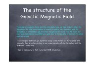 The structure of the Galactic Magnetic Field - Cesr