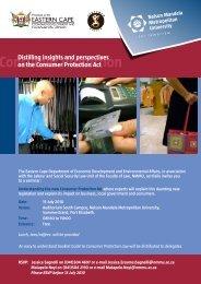 DEDEA Consumer Protection Act Business Seminar Programme