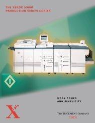 The Xerox 5900 Production Series Copier