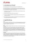 Kurzanleitung - Avira Internet Security 2012 Firewall - Seite 3