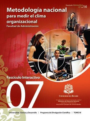 Metodología nacional - Universidad del Rosario