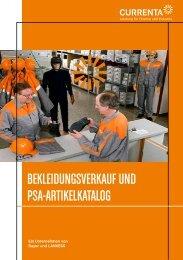 BEKLEIDUNGSVERKAUF UND PSA-ARTIKELKATALOG - Chempark