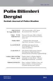 Polis Bilimleri Dergisi Turkish Journal of Police ... - Polis Akademisi