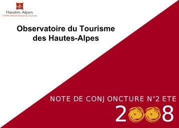 Note de conjoncture n2 été 2008 - Observatoire du Tourisme