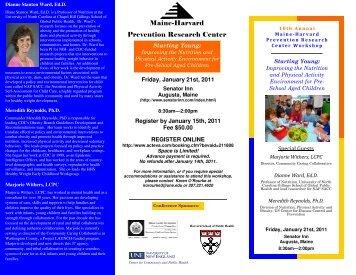Brochure - Harvard School of Public Health - Harvard University