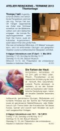 Atelier reinckens – termine 2013 thementage - Christine Reinckens