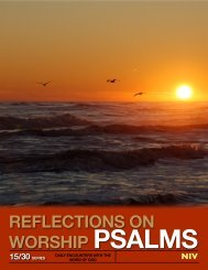 REFLECTIONS ON WORSHIP PSALMS