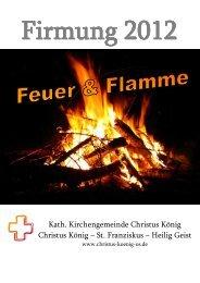 Informationen zur Firmung 2012 als PDF-Datei herunterladen