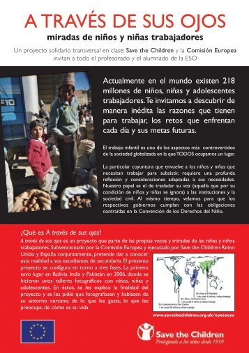 Folleto Informativo - Save the Children