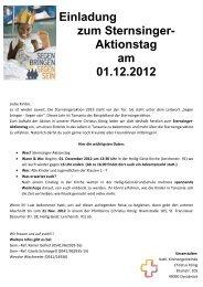 Einladung zum Sternsinger - Christus-koenig-os.de