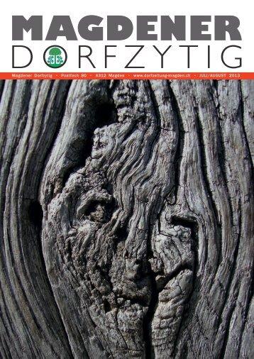 Ausgabe Nr. 33, Juli/August - Magdener Dorfzytig