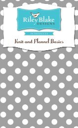 Knit and Flannel Basics - Riley Blake Designs