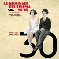 Catalogo Giornate del Cinema Muto 2011 - La Cineteca del Friuli