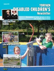 DisableD ChilDren's - Torfaen Family Information Service