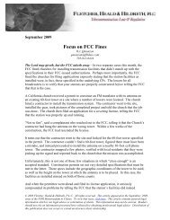 MTC 2009-09 Website.Focus on FCC Fines.2009-09 ... - FHH Law
