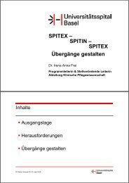 SPITEX – SPITIN – SPITEX Übergänge gestalten