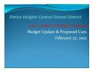 Budget Presentation 2-27-2012 - Elmira Heights Central School ...