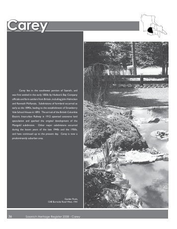Saanich Heritage Register 2008 - Carey - District of Saanich