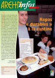 Dossier : Repas « durables » à la cantine - Arehn
