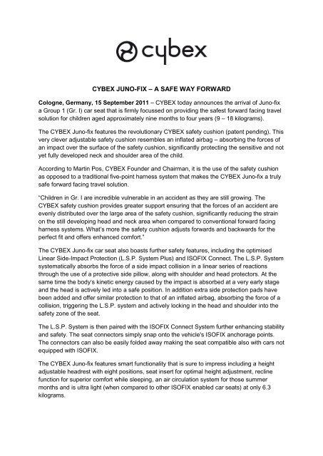 Cybex Juno Fix Group 1 Isofix Car Seat.