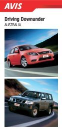 Driving Downunder - Avis Travel Agents and Wholesalers