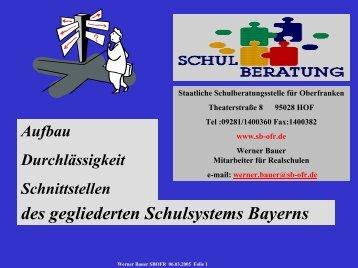 Das Schulsystem in Bayern - CLARA@eu