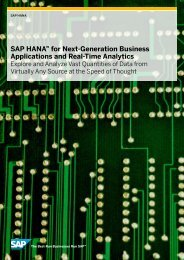 SAP HANA™ for Next-Generation Business Applications and Real ...
