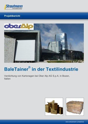 Textilindustrie Oberalp - Strautmann Umwelttechnik