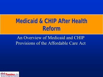 Medicaid & CHIP After Health Reform - South Carolina Institute of ...