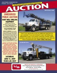UNRESERVED PUBLIC AUCTION - United Auctioneers & Appraisers