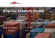 NEU: Empress Elisabeth Shuttle - Rail Cargo Austria