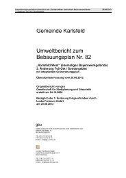 Umweltbericht zum Bebauungsplan Nr. 82 Gemeinde Karlsfeld