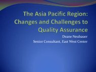 Changes and Challenges to Quality Assurance - Council for Higher ...