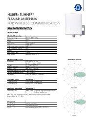 SUHNER PLANAR ANTENNA - ARGE wireless-solution